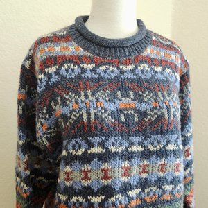 Vintage Chunky Folk Knit Sweater
